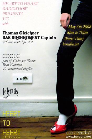 h2h YNT - h2h4u - heart to heart - with Thomas Gleichner, Codec, lektrik